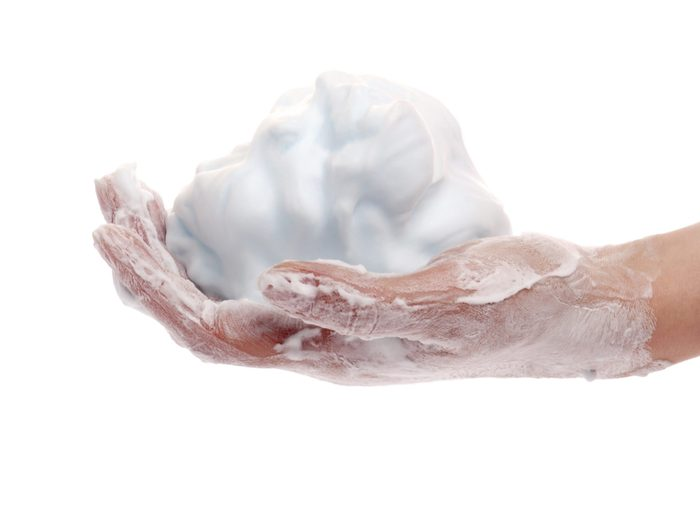 Uses for Shaving Cream: Clean Your Hands