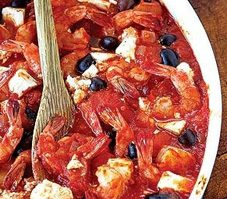 Greek Shrimp with Tomato and Feta
