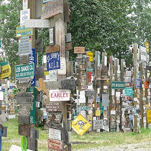 4. Strange Places in Canada: More Than 70,000 Signs, Watson Lake, Yukon