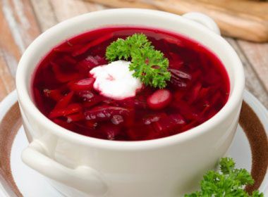3. Robust Russian Cabbage Borscht Recipe