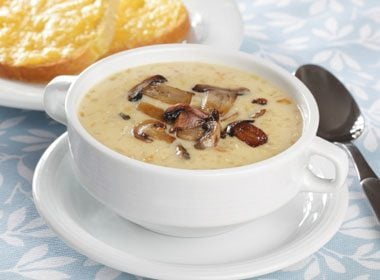 4. Nourishing Mushroom Soup with Chili and Cheese Recipe