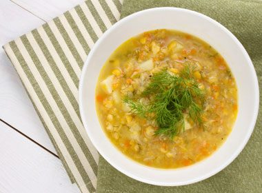 9. Robust and Tasty Split Pea Soup Recipe