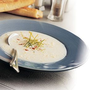 Potato Soup with Swiss Cheese