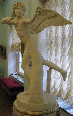 Eros (Greek) or Cupid (Roman)