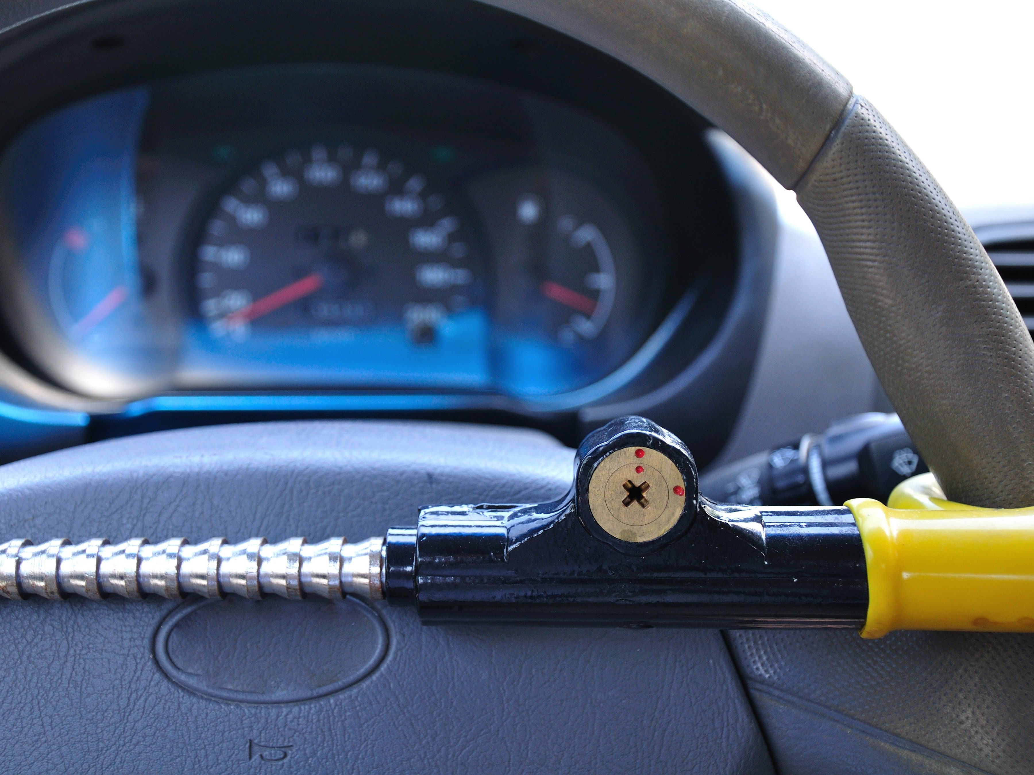 Car security strategy #3: Invest in a steering wheel lock