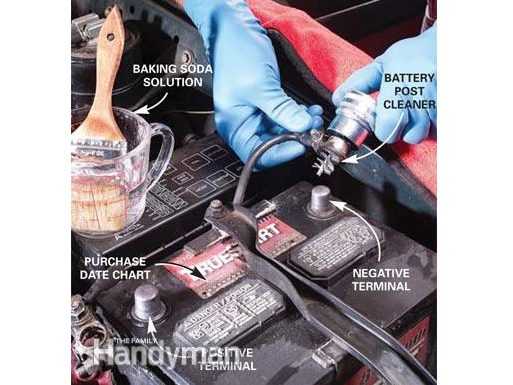 Step 1: Clean the cables and external surface of the car battery