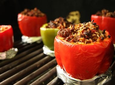 Belly-Friendly Chicken-Stuffed Peppers With Feta