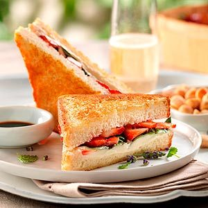 Sweet Summer Night Grilled Cheese Sandwich