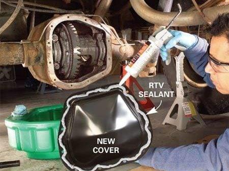 Changing Oil - Step 2: Add RTV Sealant