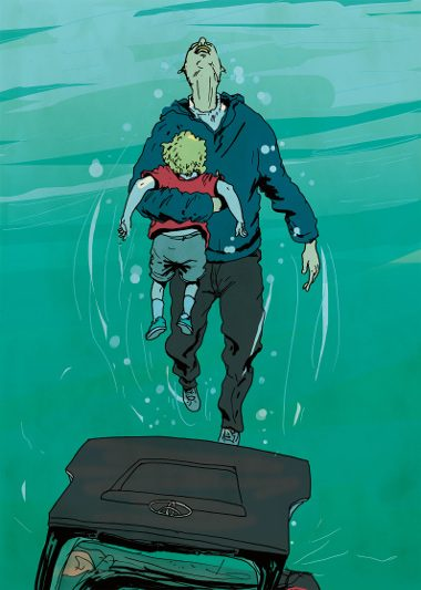 Saving drowning child