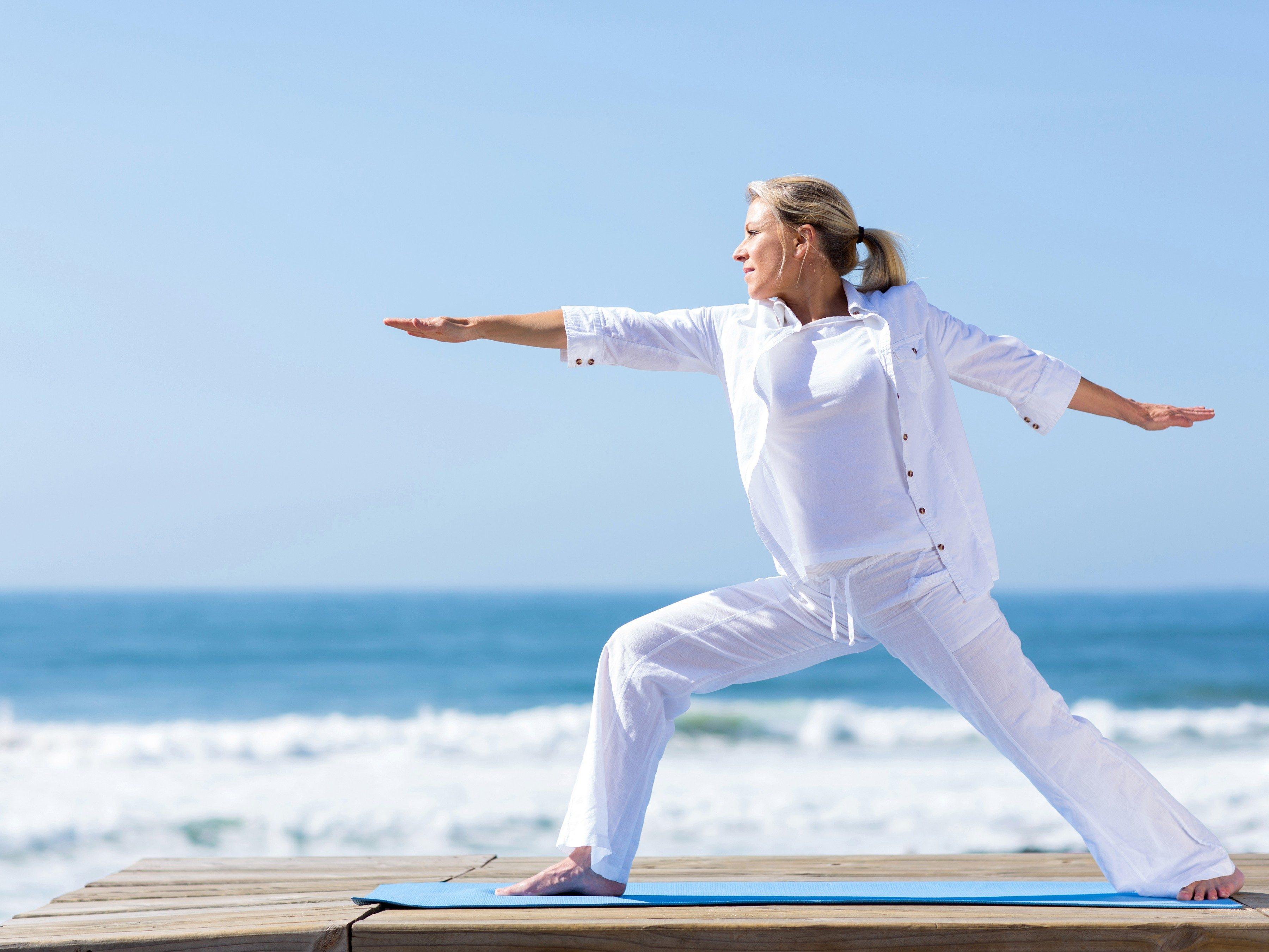 3. Take a yoga class.