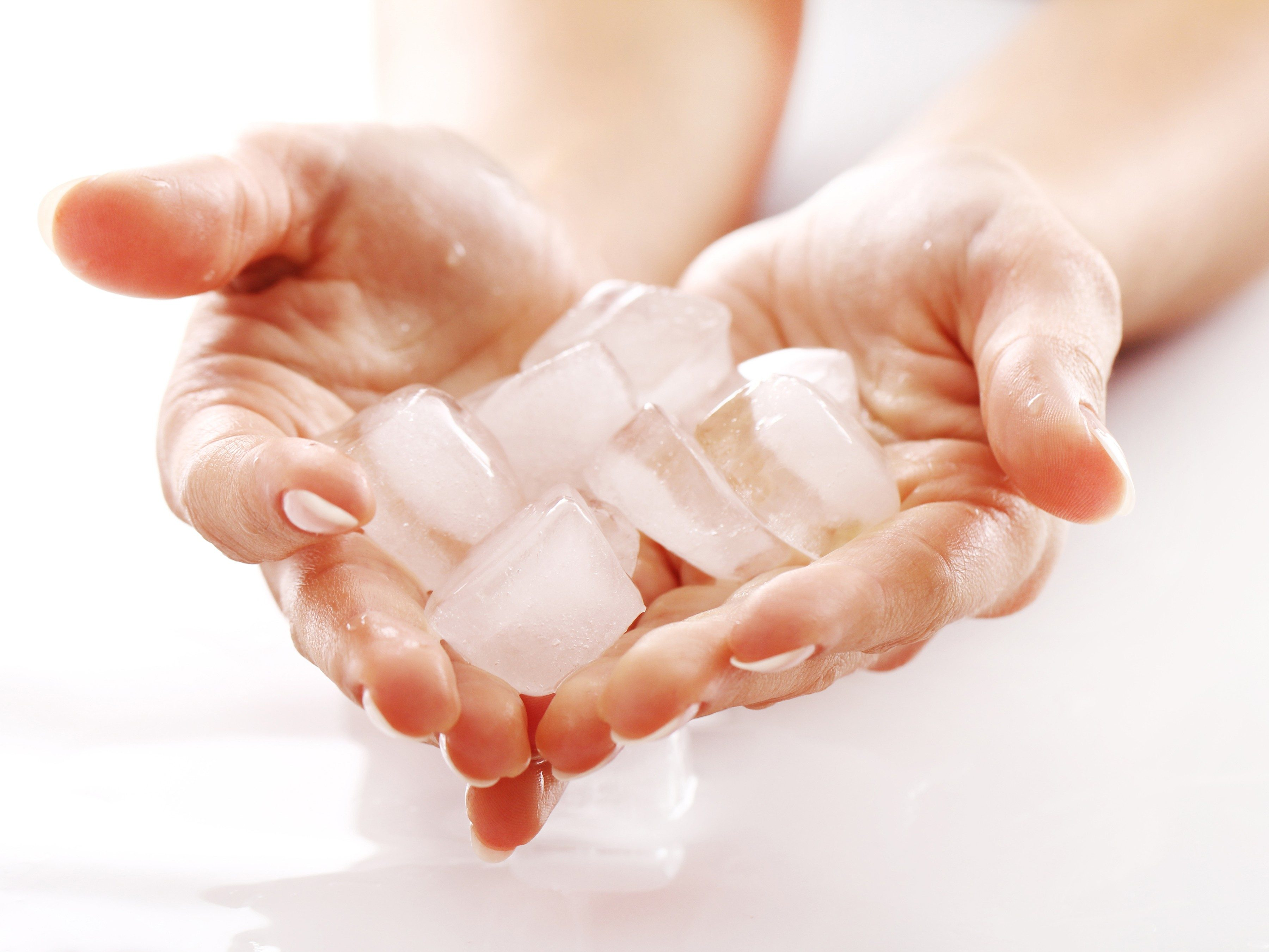 1. Give sore muscles an ice massage.