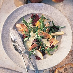 Smoked Trout With Pear and Arugula