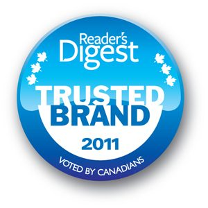 Trusted Brand 2011- Canada's Most Trusted Brands