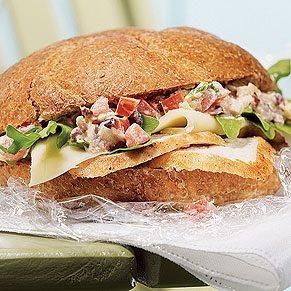 Turkey Sandwich With Muffuletta Salsa