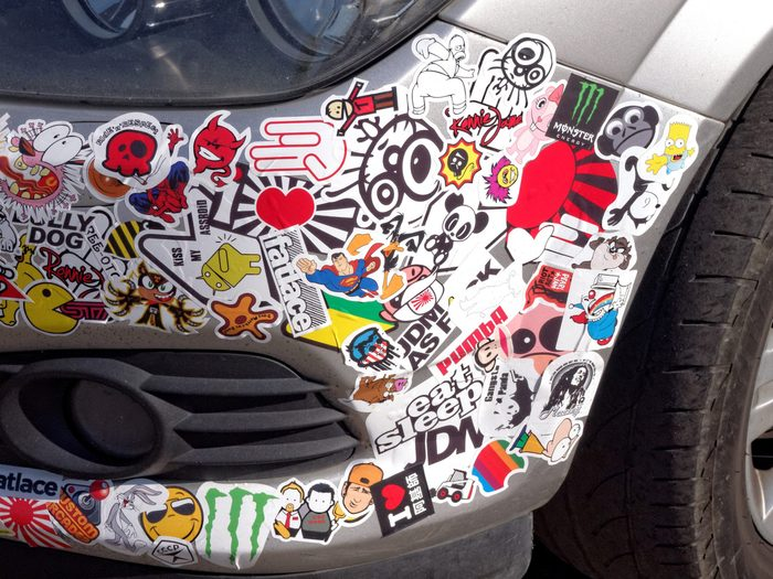 Use a Blow-Dryer to Remove Bumper Stickers