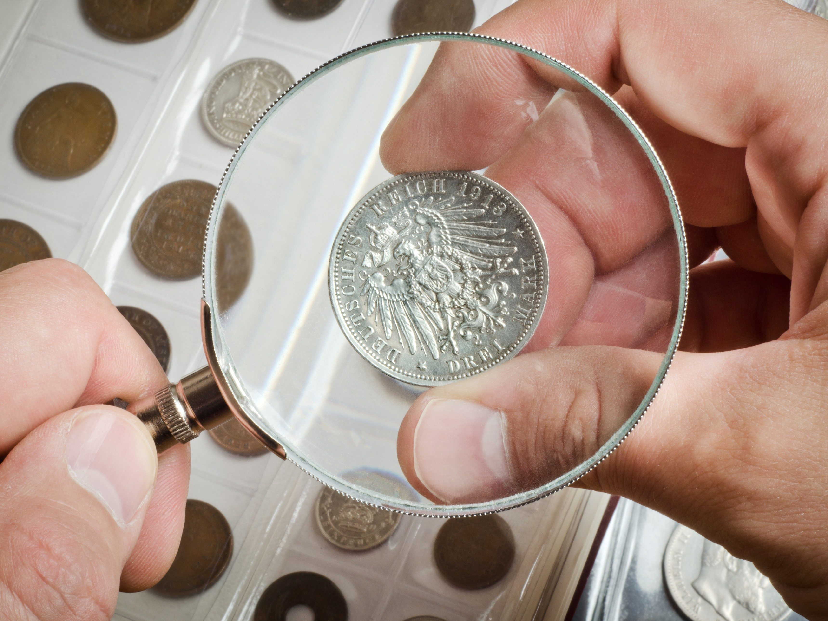 1. Use an Eraser to Shine a Coin Collection
