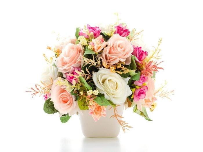 Use Drinking Straws to Improve a Flower Arrangement