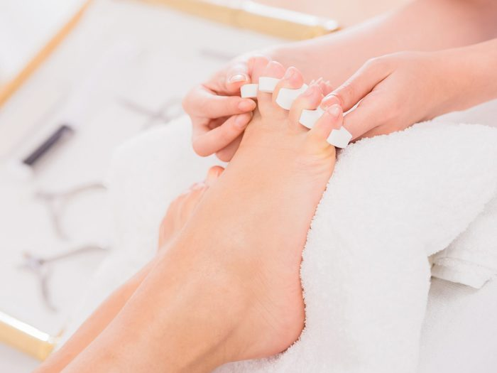 1. Use marshmallows to help with your next pedicure