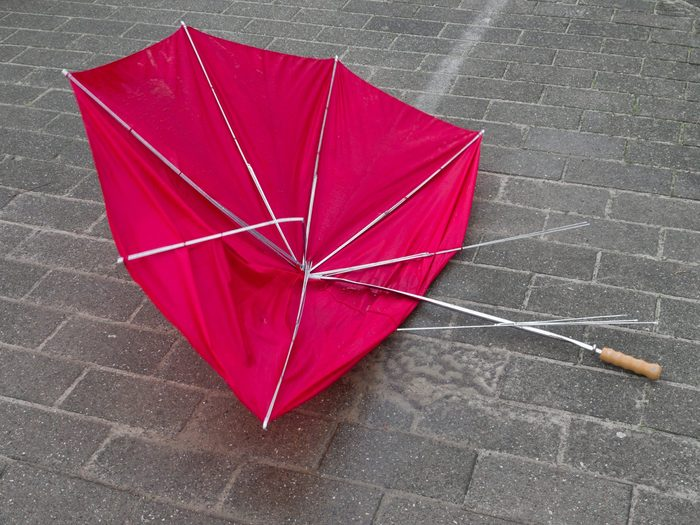 5. Use Masking Tape to Fix a Broken Umbrella