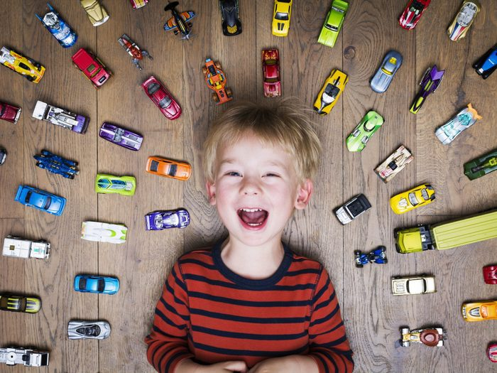 2. Use Masking Tape to Make a Road for Toy Cars