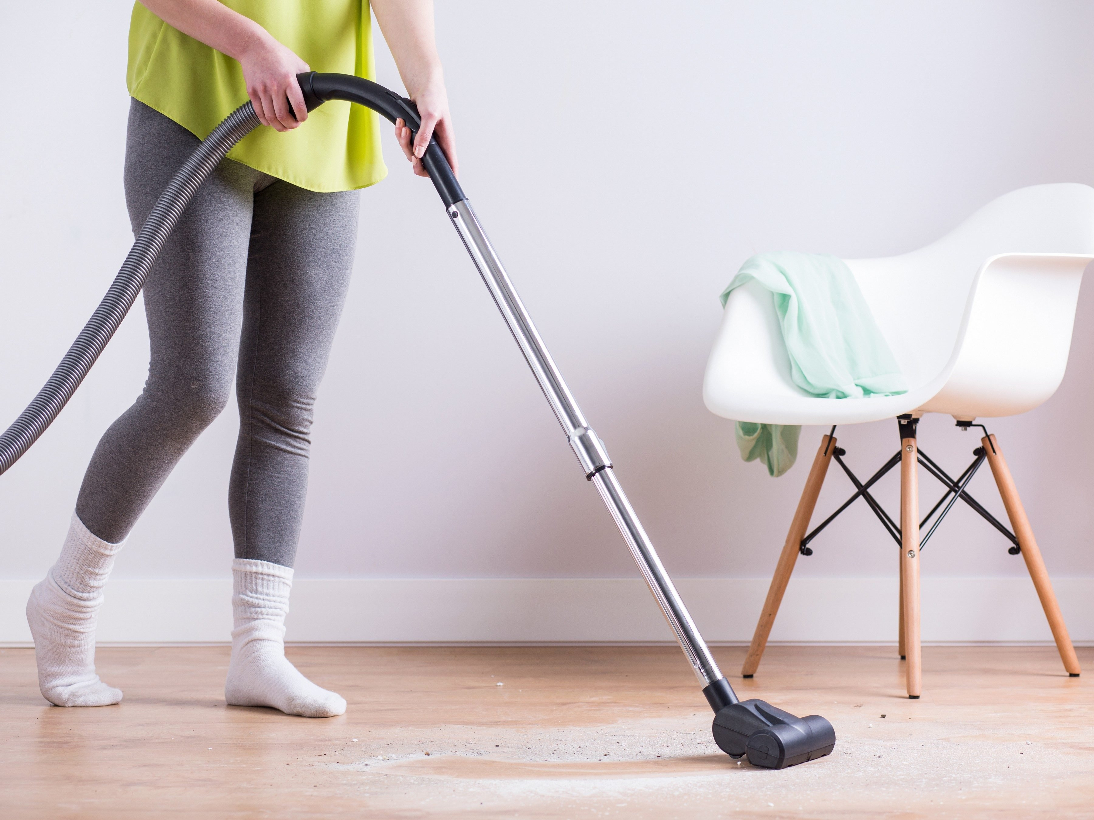 3. Reuse a Vacuum Cleaner Bag With Masking Tape