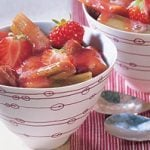 Vanilla Rhubarb Salad with Strawberries