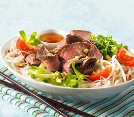 Vietnamese Flank Beef Steak with Noodle Salad