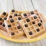 Banana Blueberry Waffles
