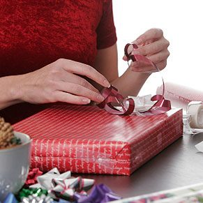 Fun uses for wallpaper: Wrapping Gifts