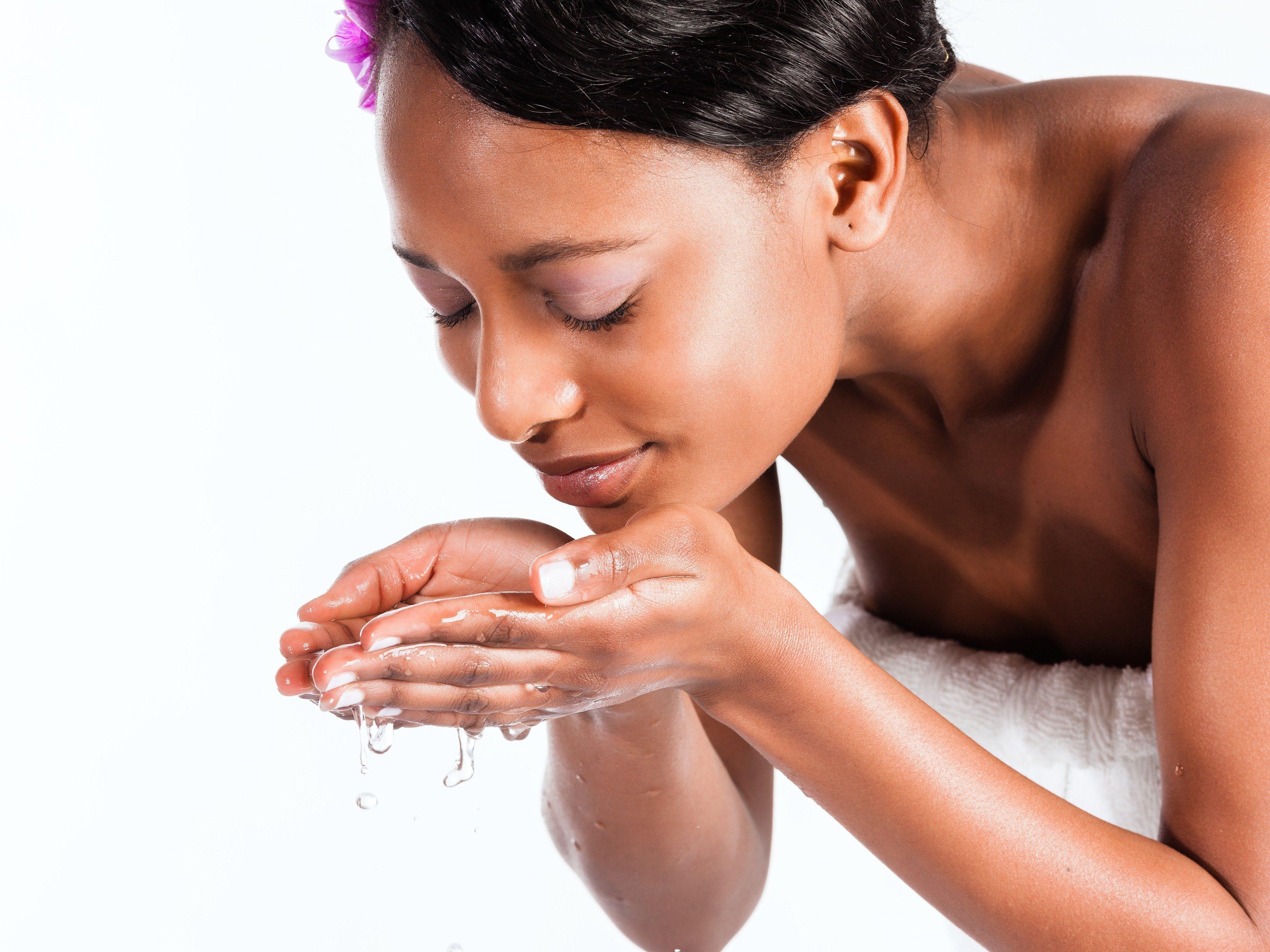 9. Gentle skin care