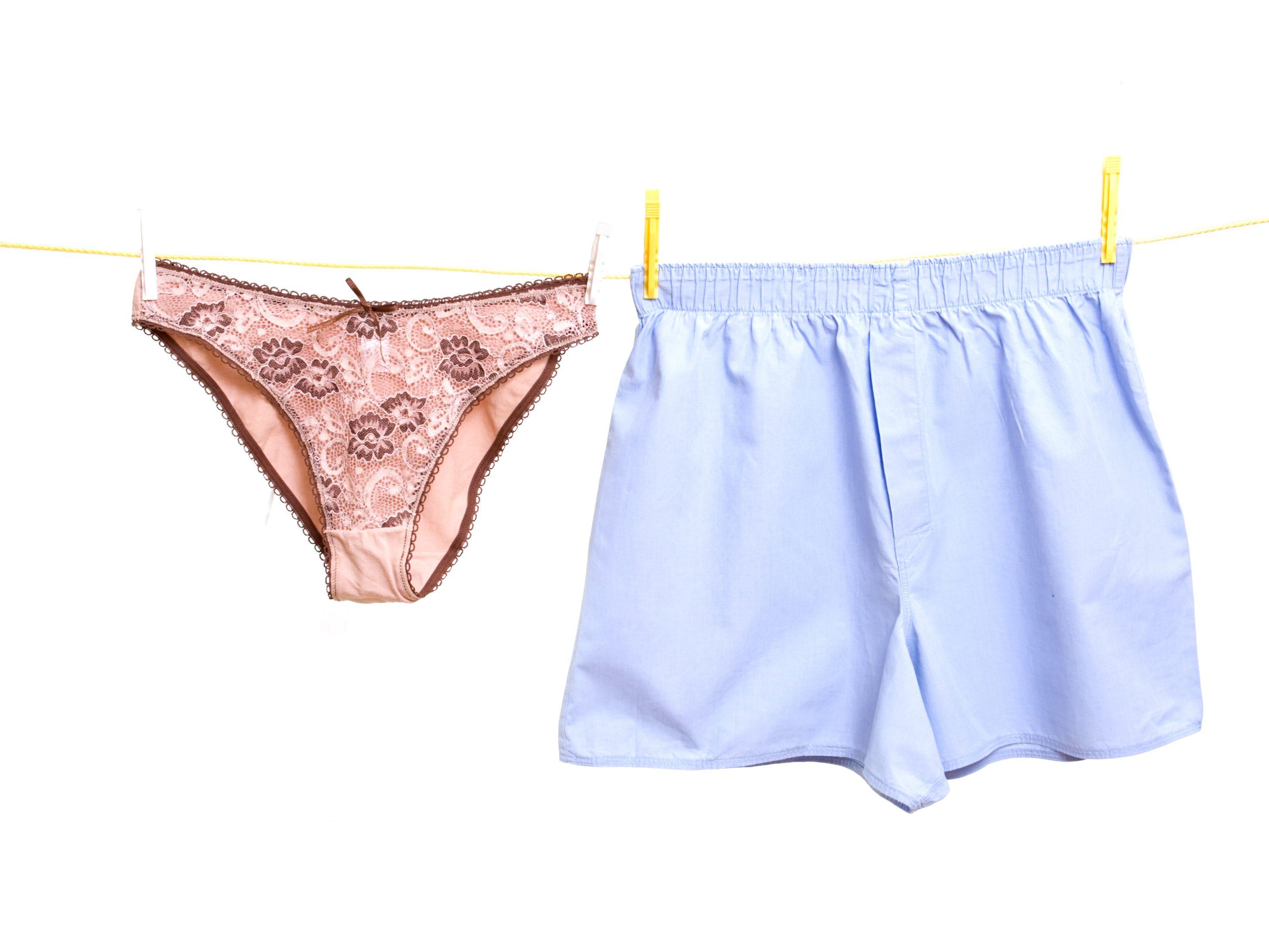 13. Wash underwear in hot water.