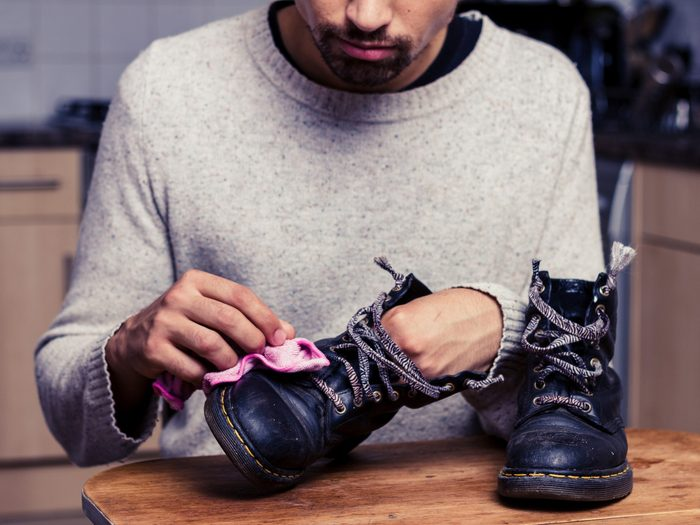 1. Use WD-40 to Protect Boots and Shoes
