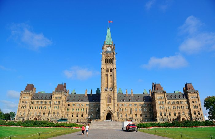 Parliament Hill in Ottawa, Ontario