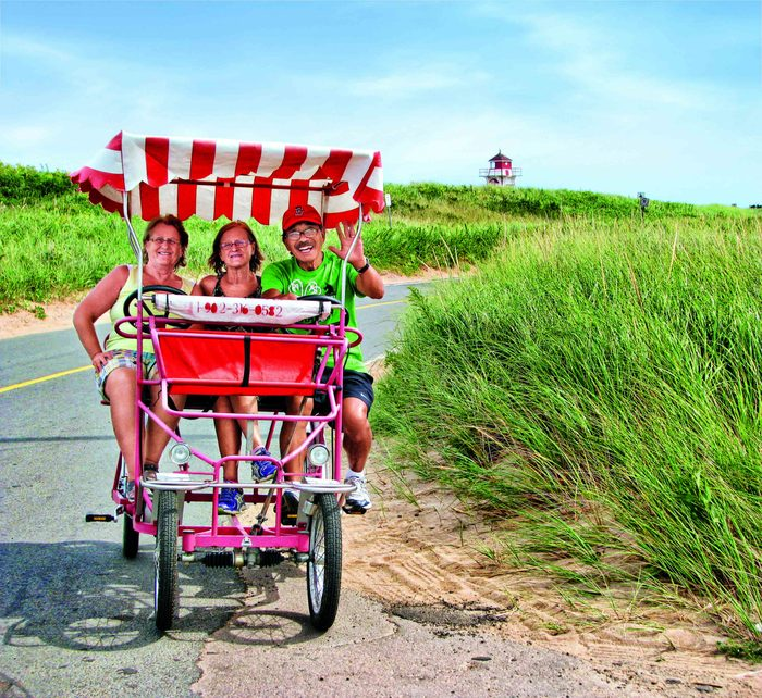 Bicycle built for three people