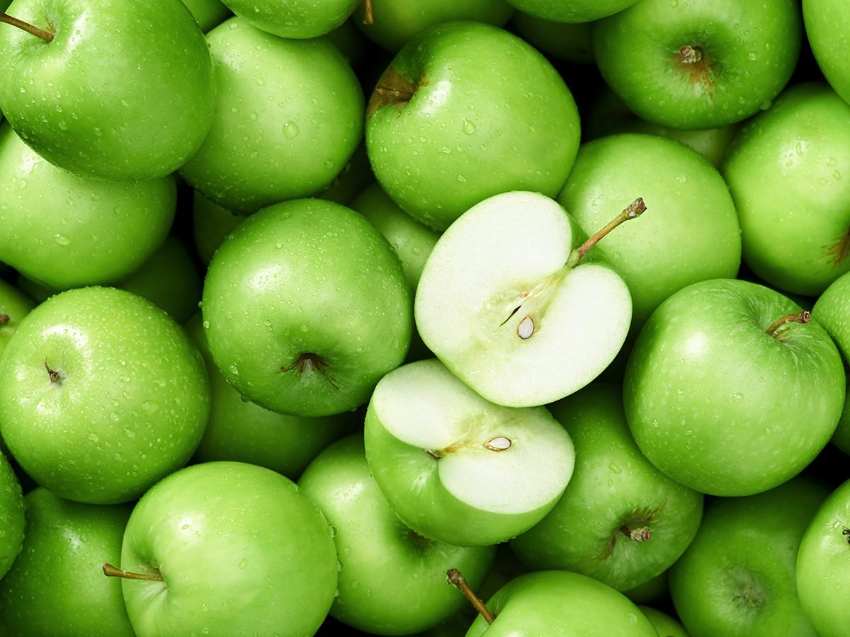 Apple benefits - green granny smith apples