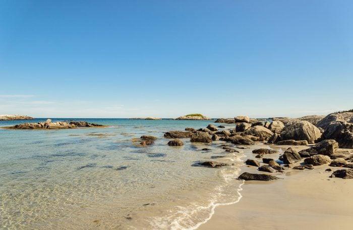 Saltwater beach in Canada