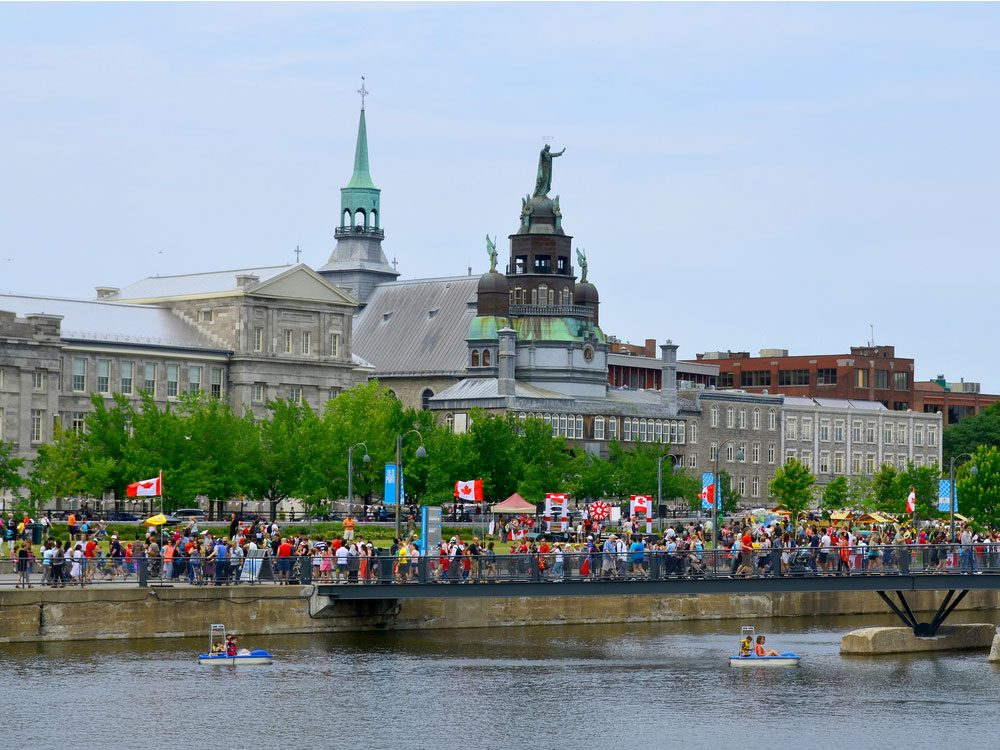 Old Port of Montreal during Canada Day