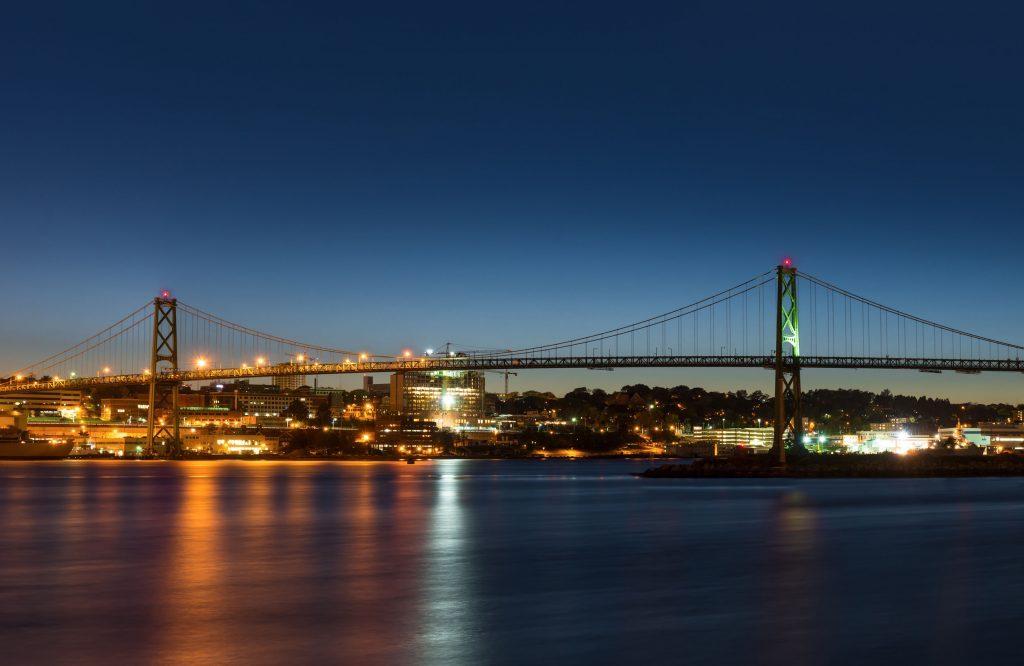 Bridge connecting Dartmouth to Halifax