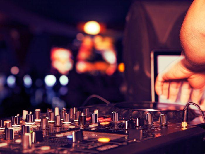 DJ at nightclub