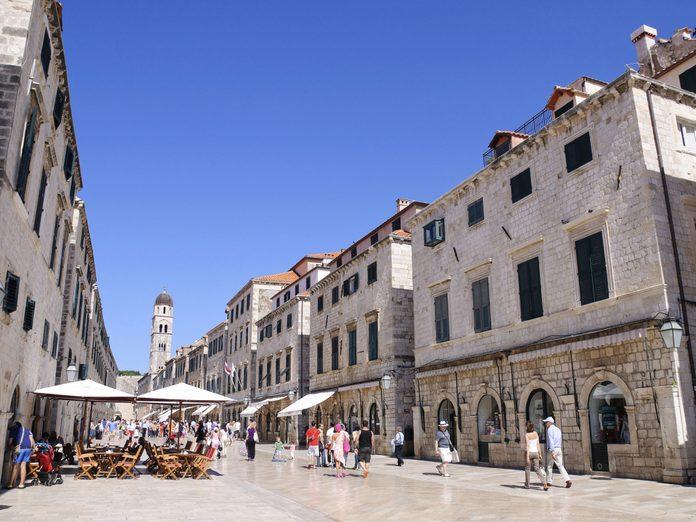Placa Street in Dubrovnik
