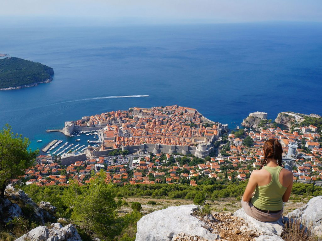 Srd Mountain summit in Dubrovnik