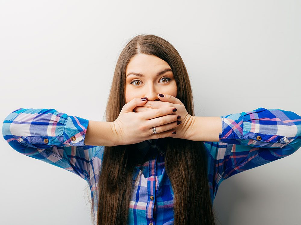 Get rid of hiccups by covering your mouth