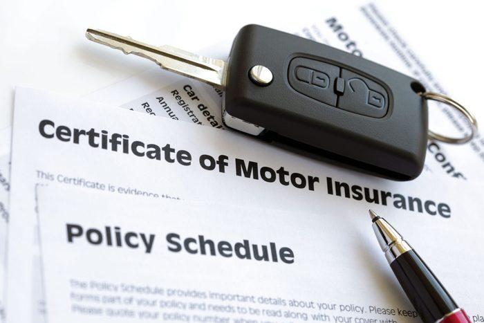 Motor insurance certificate