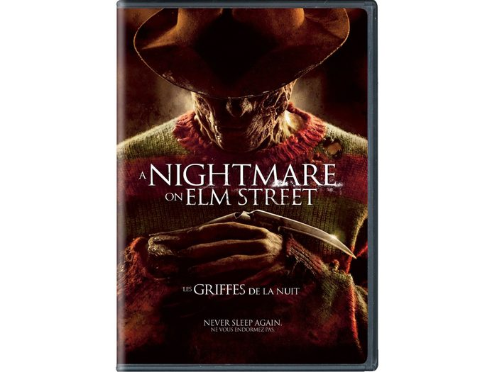 DVD cover for the Nightmare on Elm Street remake