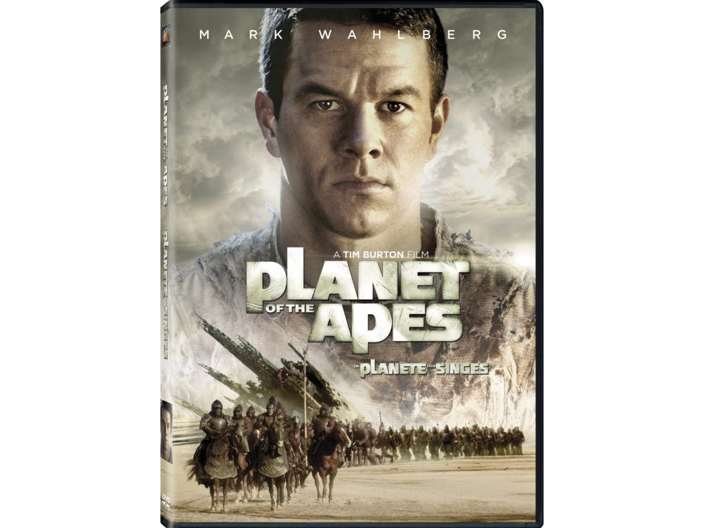DVD cover for Tim Burton's Planet of the Apes remake