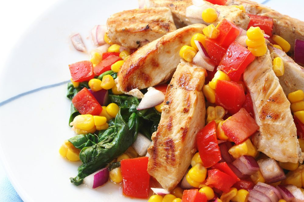 Grilled Chicken Breast with Corn & Capsicum Relish