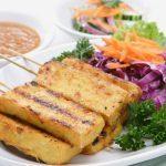 """Shanghai Tofu """"Steaks"""" on Kale"""