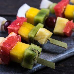 Barbecued Fruit Skewers