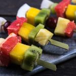 Barbecued Fruit Skewers